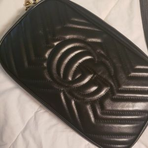 Gucci marmont  small quilted camra bag